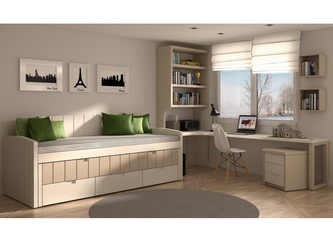 Mueble Juvenil Muebles Modernos Para Habitaciones Juveniles  ~ Habitaciones Juveniles De Madera
