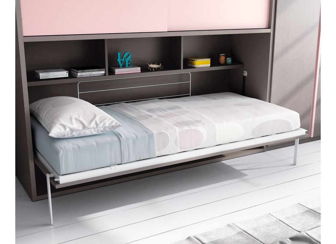 Dormitorios juveniles e infantiles con cama abatible for Cama abatible
