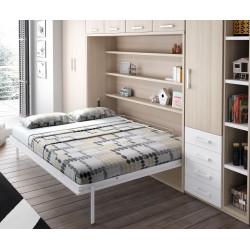 Camas horizontales para espacios alargados f ciles de - Habitaciones juveniles camas abatibles horizontales ...