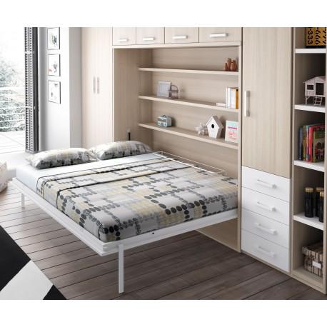 Dormitorios juveniles e infantiles con cama abatible - Habitaciones juveniles camas abatibles horizontales ...