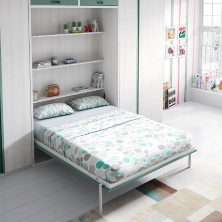 Dormitorios juveniles e infantiles con cama abatible vertical for Habitaciones juveniles abatibles
