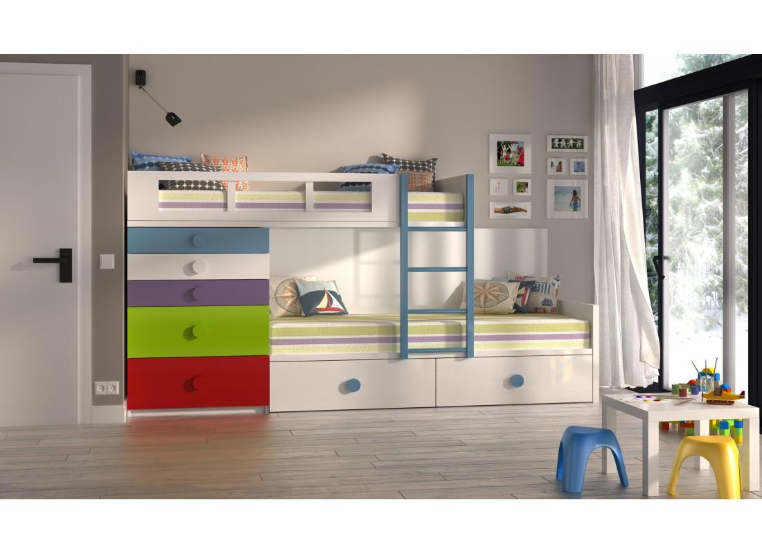Dormitorios juveniles e infantiles muebles calidad for Dormitorios con literas