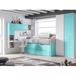 Dormitorio juvenil compacto12
