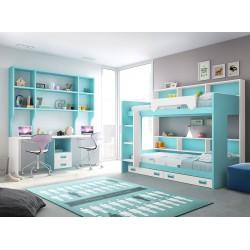Dormitorio juvenil literas 11