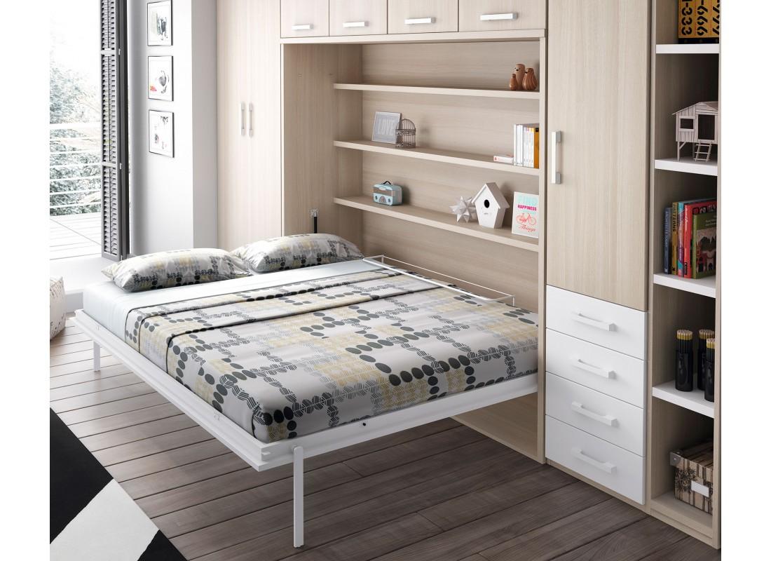 Dormitorios juveniles e infantiles con cama abatible - Mueble salon con cama abatible ...